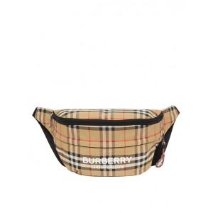 Vintage check convertible bum bag