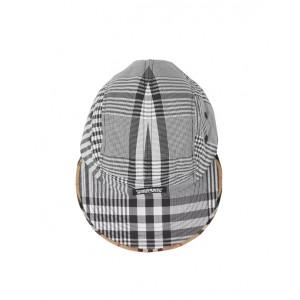 Check cotton poplin cap
