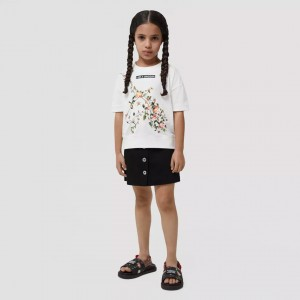 Cotton T-shirt with the Burberry unicorn print