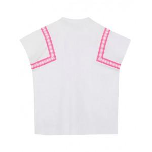 Coordinates print cotton T-shirt dress