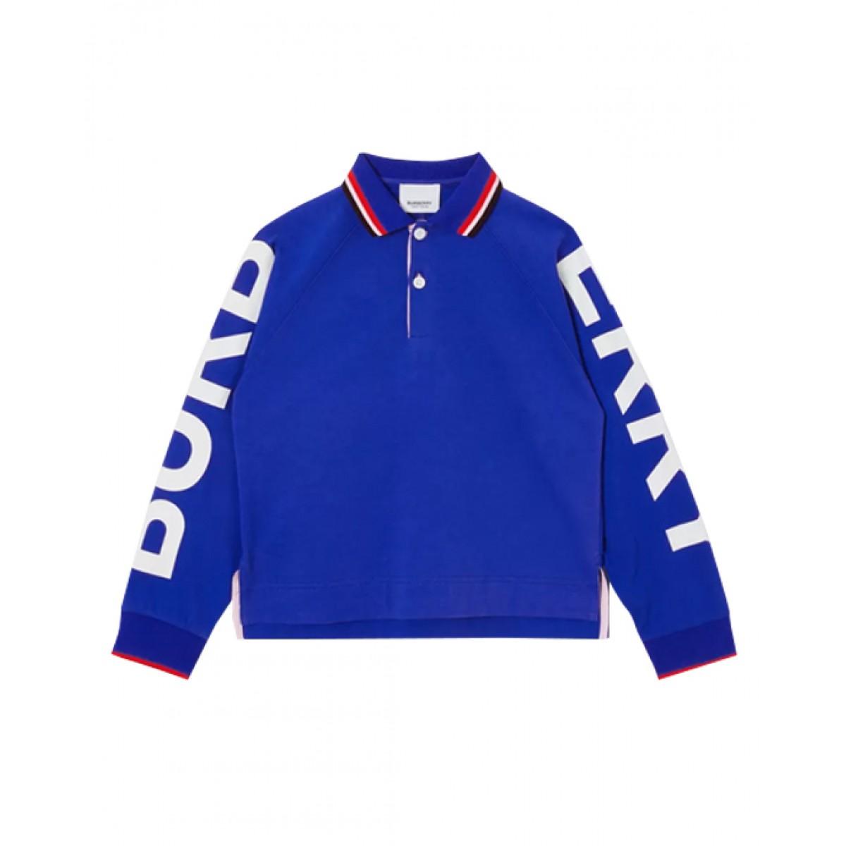 Logo print cotton polo shirt