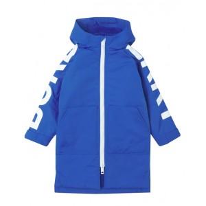 Fleece-lined oversized coat