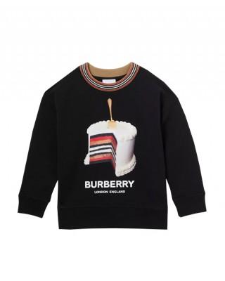 Cake print cotton sweatshirt