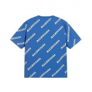 BALENCIAGA All over logo print cotton t- shirt