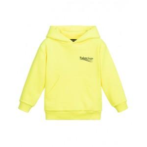 Neon Yellow Cotton Hoodie