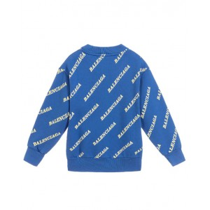 BALENCIAGA All over logo print cotton sweatshirt