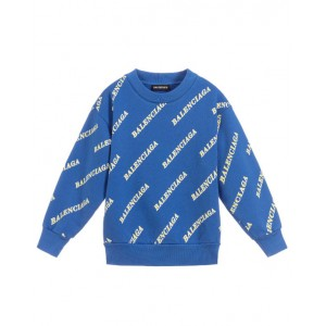 All over logo print cotton sweatshirt