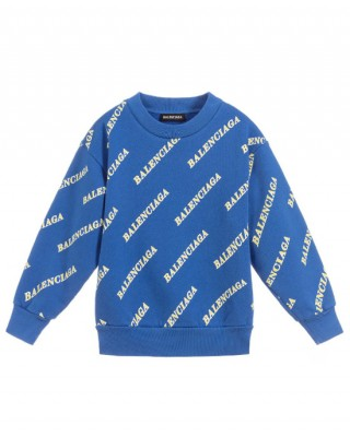 All over logo print cotton sweatshirt