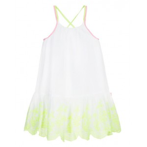 Dress with neon embroidery