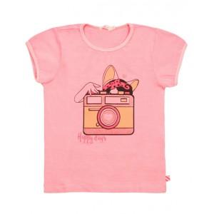 Pink cotton T-shirt