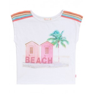 BILLIEBLUSH Printed T-shirt with striped shoulders