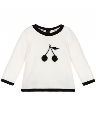 Cashmere sweater in milk white