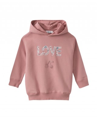 Hooded sweatshirt in pink