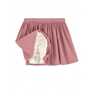 BONPOINT Short powder pink skirt