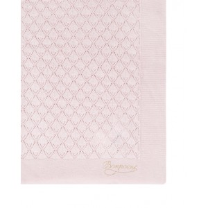 Pink blanket with logo