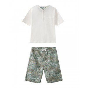 Boys pajamas with floral print