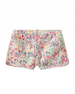 Liberty print fleece shorts with pockets