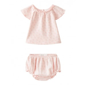 Baby set in pale pink