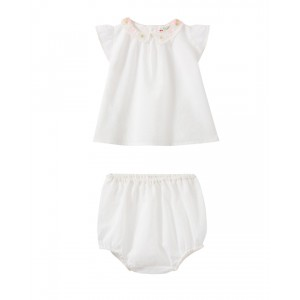 Baby set with embroidered collar