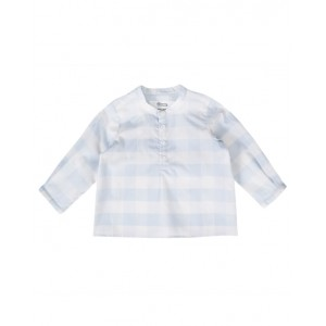 Sea blue baby checked shirt