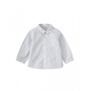 Boys white and blue shirt
