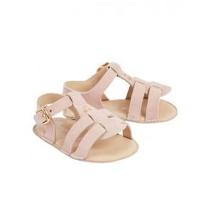Baby suede flip-flops