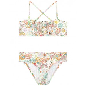 BONPOINT Two-piece swimsuit with flower motif