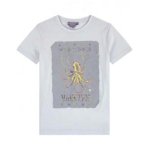 BONPOINT Blue octopus print T-shirt