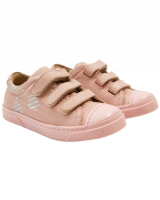 Pink trainers with Velcro