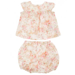 BONPOINT Baby set with floral print