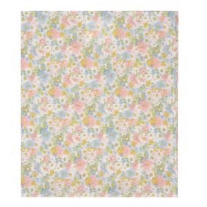 Girls' beige scarf with flowers print