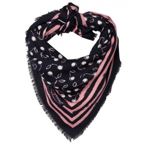 Cherry scarf from wool-cashmere blend