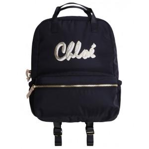 CHLOE  Glitter logo print backpack
