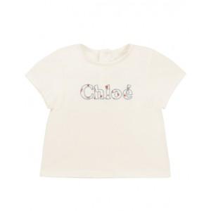 White logo cotton T-Shirt