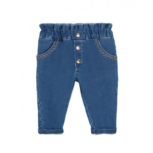 Baby stretchy blue jeans