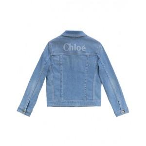 CHLOE Denim jacket with frayed details