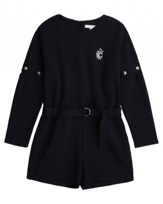 Navy belted playsuit