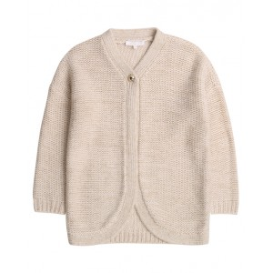 Knitted cardigan in ivory