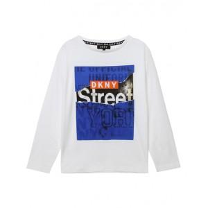 White graphic print blouse