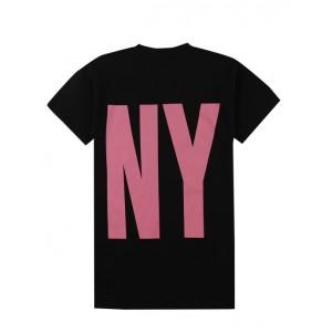 Black & pink logo dress