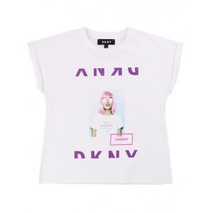 DKNY White printed T-shirt