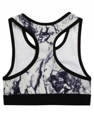Marble print bra top