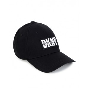 Black logo patch cap
