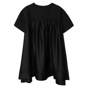 DKNY Black jersey and satin dress