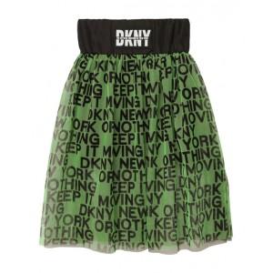 DKNY Green and black mesh skirt