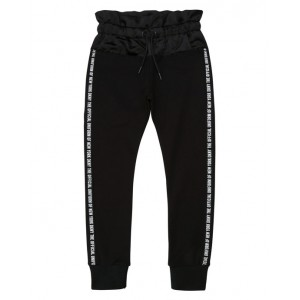 DKNY Black jersey and satin sport trousers