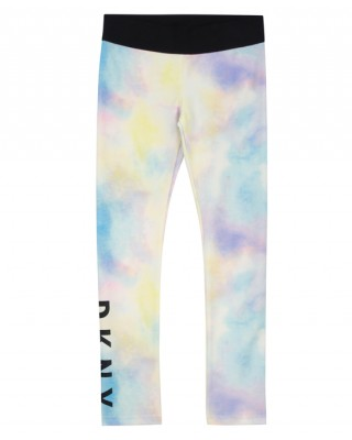 Multicolored logo girls leggings