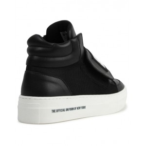 DKNY High top mesh panel sneakers