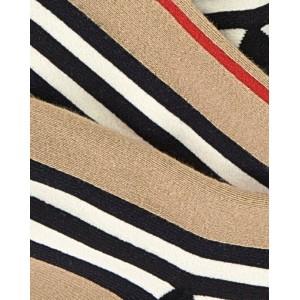 Icon stripe intarsia tights