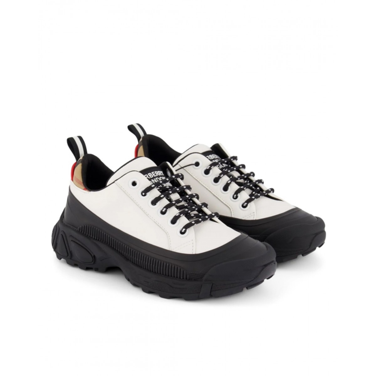 Leather and canvas sneakers